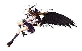 Picture girl, angel, Touhou, Touhou, Touhou