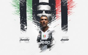 Picture wallpaper, sport, Cristiano Ronaldo, football, player, Juventus FC