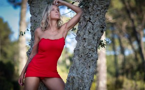 Picture girl, nature, pose