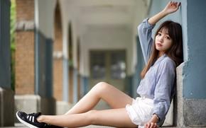 Picture look, girl, hair, legs, Asian, cutie