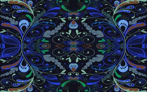 Picture Blue, Pattern, Background