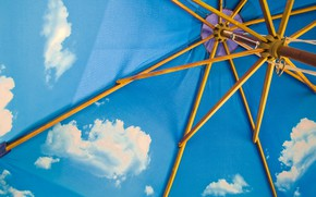 Picture the sky, clouds, umbrella, tent, fabric