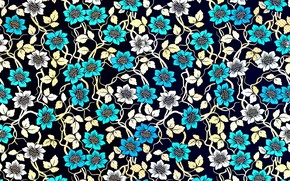Picture flowers, background, flower, texture, art, pattern