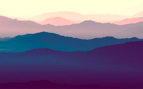 Picture Minimalism, Mountains, Hills, Landscape, Art