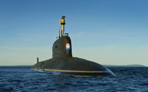 Picture submarine, Navy, atomic, ash, the project 885, Severodvinsk