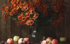 Picture apples, bouquet, still life, composition