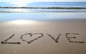 Picture sand, sea, wave, beach, summer, the sky, love, summer, love, beach, sea, heart, blue, seascape, …