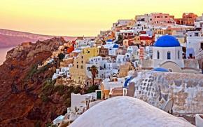 Picture building, home, Santorini, Greece, Church, Santorini, Oia, Greece