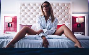 Picture pose, Girl, shirt, legs, Victor Ambartsumov