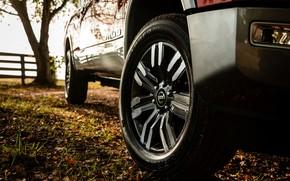 Picture wheel, Nissan, bumper, pickup, Titan, 2020, Titan XD Platinum Reserve