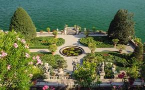 Picture lake, Italy, Maggiore, Piedmont, Isola Bella, the gardens Borromeo