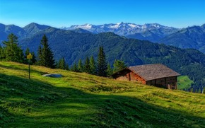 Picture mountains, Austria, the barn, Luppitsch