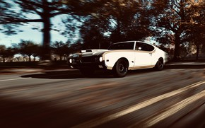 Picture HDR, Autumn, Street, Game, Sunshine, Muscle Car, Trees, Leaves, Hurst, Oldsmobile 442, UHD, Xbox One …