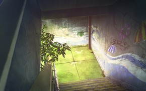 Picture the city, ladder, underpass