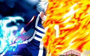 Picture fire, My Hero Academia, Boku No Hero Academy, Todoroki Shoto, My Hero Academy