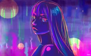 Picture Girl, Figure, Neon, Art, Neon, by Danielle Stephens, Danielle Stephens