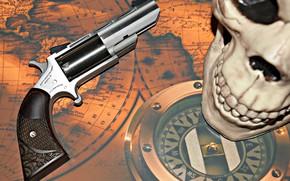 Picture Skull, Gun, Revolver