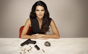 Picture look, pose, gun, weapons, icon, the series, Angie Harmon, Angie Harmon, Rizzoli & Isles, Rizzoli …