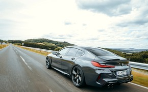 Picture road, asphalt, coupe, BMW, Gran Coupe, AC Schnitzer, video, 2020, BMW M8, M8, the four-door, …