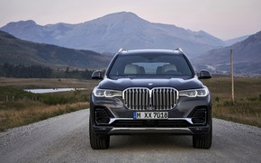 Picture BMW, front view, 2018, crossover, SUV, 2019, BMW X7, X7, G07