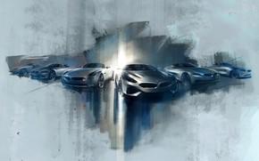 Picture figure, BMW, sketch, double, Z4, roadsters, Z-series, Z3, Z1, Z8