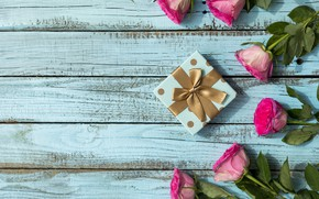 Picture gift, roses, bouquet