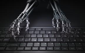 Picture imagination, keyboard, robotic hands