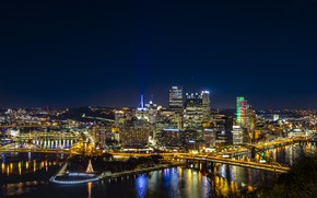 Picture lights, backlight, Pittsburgh