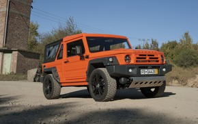 Picture orange, the building, SUV, 2011, 4x4, primer, Travec, Tecdrah Integrale 1.5 TTi, Renault/Dacia Duster, frame