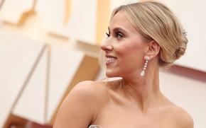 Picture look, face, pose, portrait, makeup, actress, Scarlett Johansson, profile, singer, Scarlett Johansson, hair
