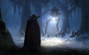Picture star wars, star wars, master Yoda, The Moment, Oleg Zherebin