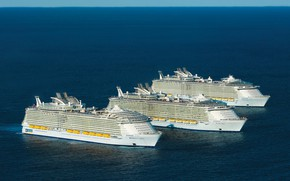 Picture The ocean, Sea, The ship, Oasis of the Seas, Navy, Royal Caribbean International, Passenger ship, …