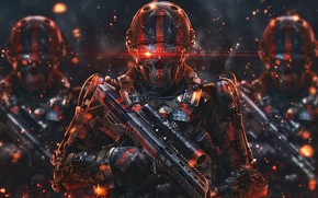 Picture Skull, Robots, Soldiers, Soldiers, Weapons, Robots, Fiction, Legion, Legion, Weapons, Soldier, Equipment, Sci-Fi, Machines, Soldiers, …
