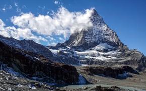 Picture mountain, Switzerland, top, Matterhorn