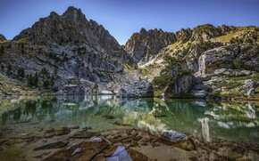 Picture landscape, mountains, nature, lake, clear water