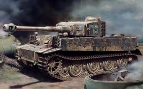 Picture Germany, tank, Tiger I, Pz.Kpfw.VI, panzerwaffe, Heavy, Sd.Car.181, Pz.Kpfw.VI Ausf.E, Filip Zierfuss