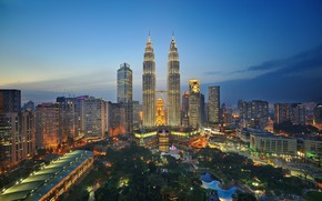 Picture landscape, the city, lake, Park, building, Malaysia, Kuala Lumpur