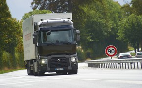 Picture sign, the fence, truck, Renault, tractor, 4x2, the trailer, Renault Trucks, T-series