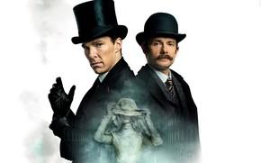 Picture Sherlock Holmes, The bride, Martin Freeman, Benedict Cumberbatch, Sherlock, Sherlock BBC, Sherlock Holmes, John Watson, …