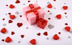 Picture gift, hearts, Valentine's Day