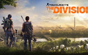 Wallpaper ubisoft, the city, agents, Washington, The Division 2, Tom Clancy's The Division 2, weapons