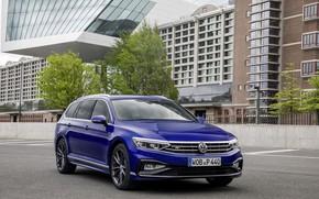 Picture blue, home, Volkswagen, universal, Passat, R-Line, Variant, 2019