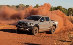 Picture grey, Ford, dust, Raptor, pickup, 2018, the ground, Ranger