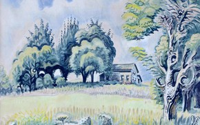 Picture 1948, Charles Ephraim Burchfield, Little House in August - East of Line Lake, Western New …