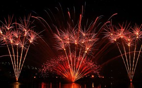 Picture night, lights, Canada, Montreal, Fireworks festival