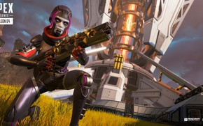 Picture girl, weapons, Apex Legends