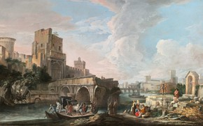 Picture picture, painting, painting, Italian artist, Luca Carlevarijs, Лука Карлеварийс