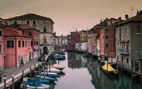 Picture home, boats, Italy, channel, Chioggia