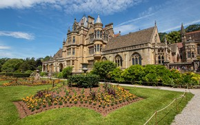 Picture flowers, Park, the building, garden, architecture, England, house, Wraxall, North Somerset, Recall, Tyntesfield, Tyntesfield House, …