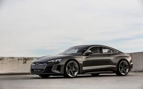 Picture Audi, coupe, Parking, 2018, e-tron GT Concept, the four-door